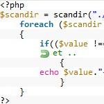 Utilisation de la fonction scandir