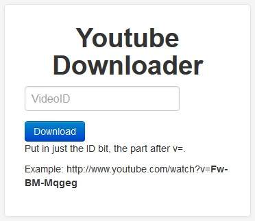 YouTube-Downloader permet de télécharger des videos