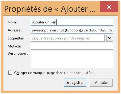 Sauvegarde le code dans Firefox